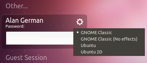 Login to Gnome Classic in Oneiric Ocelot
